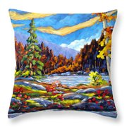 Land Of Lakes Throw Pillow