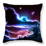 Land Of Nightmares Throw Pillow