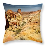 Land Of Sandstones Valley Of Fire Throw Pillow