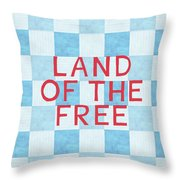 Land Of The Free Throw Pillow by Linda Woods