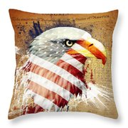 Land Of The Free Throw Pillow by Robert  Adelman