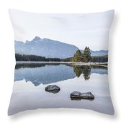 Land Of Thousand Lakes Throw Pillow