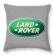 Land Rover Emblem Throw Pillow
