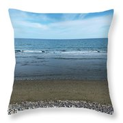 Land Sea And Ocean Background Throw Pillow