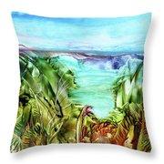 Land Sea And Sky Throw Pillow