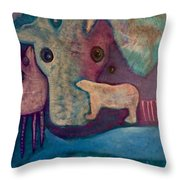 Land, Sea, Sky - We Are Interdependent Throw Pillow