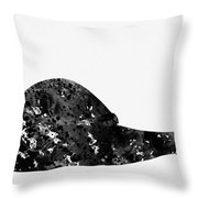 Land Snail-black Throw Pillow