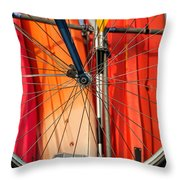Land Vs Water Sports Throw Pillow