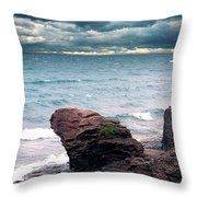 Land Water Sky Throw Pillow