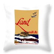 Land With The Us Marines Throw Pillow