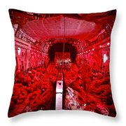 Landing At Kandahar Throw Pillow