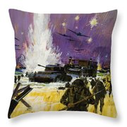 Landing Throw Pillow by Graham Cotton