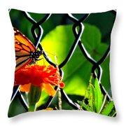 Landing On Marigold Throw Pillow