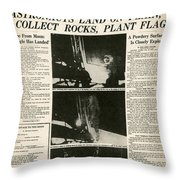 Landing On Moon, 1969 Throw Pillow