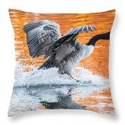 Landing Throw Pillow by Parker Cunningham