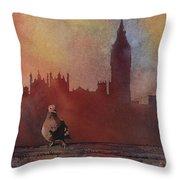Landing Place- London Throw Pillow