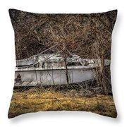 Landlocked Marina  Throw Pillow