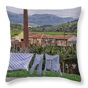 Landry On The Line Throw Pillow