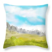 Landscape 040710 Throw Pillow