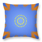 Landscape Abstract Blue, Orange And Yellow Star Throw Pillow
