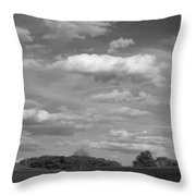 Landscape And Clouds Throw Pillow