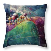 Landscape And Trees In Purple Throw Pillow