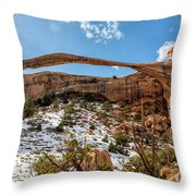 Landscape Arch - Arches National Park Moab Utah Throw Pillow