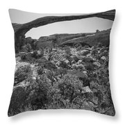 Landscape Arch Bw Throw Pillow