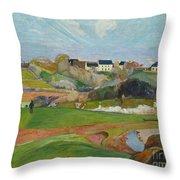 Landscape At Le Pouldu Throw Pillow