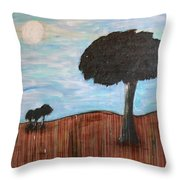Landscape - Distant Cousins Throw Pillow
