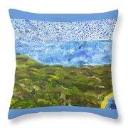 Landscape Dots Throw Pillow
