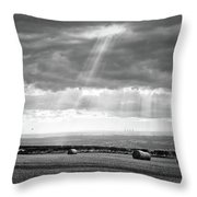 Landscape From Garrowby Hill, Yorkshire Uk Throw Pillow