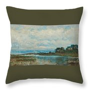 Landscape From The Surroundings Throw Pillow