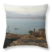 Landscape In Gold  Throw Pillow
