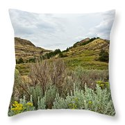 Landscape In Northwest North Dakota  Throw Pillow