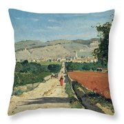 Landscape In Provence Throw Pillow