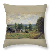 Landscape In Summer Throw Pillow