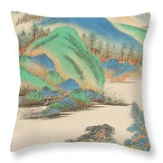 Landscape In The Style Of The Old Masters Throw Pillow