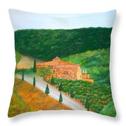 Landscape In Tuscany Throw Pillow