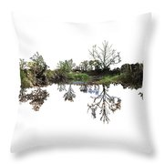 Landscape Minimalism Throw Pillow by Michael Colgate