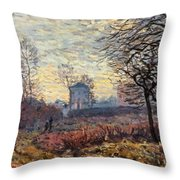 Landscape Near Louveciennes Throw Pillow
