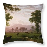 Landscape Near Lucerne With View To Mount Rigi Throw Pillow