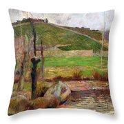 Landscape Near Pont-aven Throw Pillow