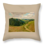 Landscape Near Schleiden In The Eifel Throw Pillow