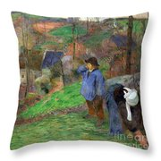 Landscape Of Brittany Throw Pillow
