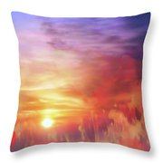 Landscape Of Dreaming Poppies Throw Pillow by Valerie Anne Kelly