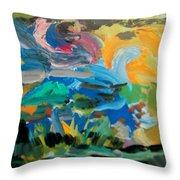 Landscape Palette Throw Pillow