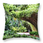 Landscape Rip Van Winkle Gardens Louisiana  Throw Pillow
