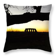 Landscape Roman Campagna Italy Throw Pillow