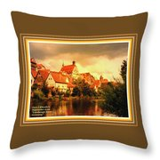 Landscape Scene - Germany. L A With Alt. Decorative Ornate Printed Frame. Throw Pillow